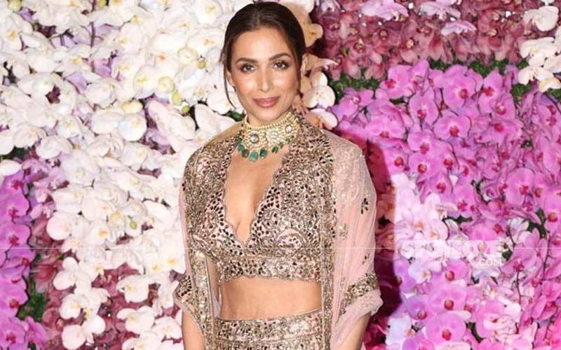Golden Goddess Malaika Arora Sizzles In A Gold Shimmery Manish Malhotra Saree And It Is Making Our Hearts Flutter On A Drab Tuesday Afternoon