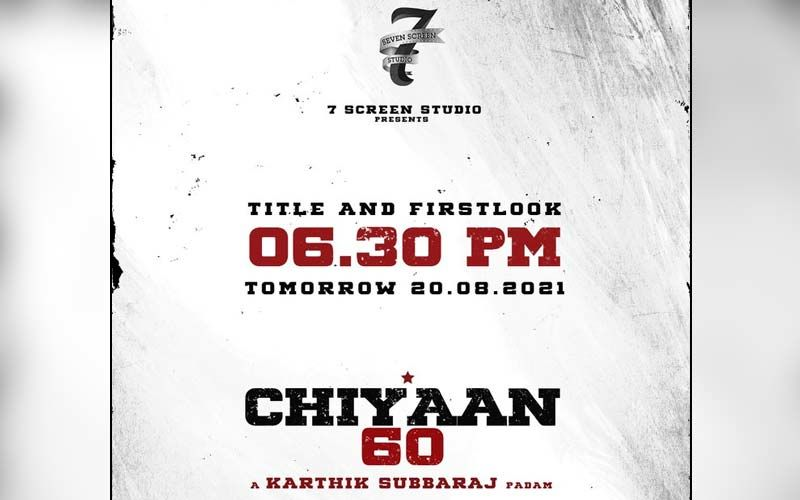 Chiyaan 60: Title Look Of Karthik Subbaraj's Next To Be Unveiled Today