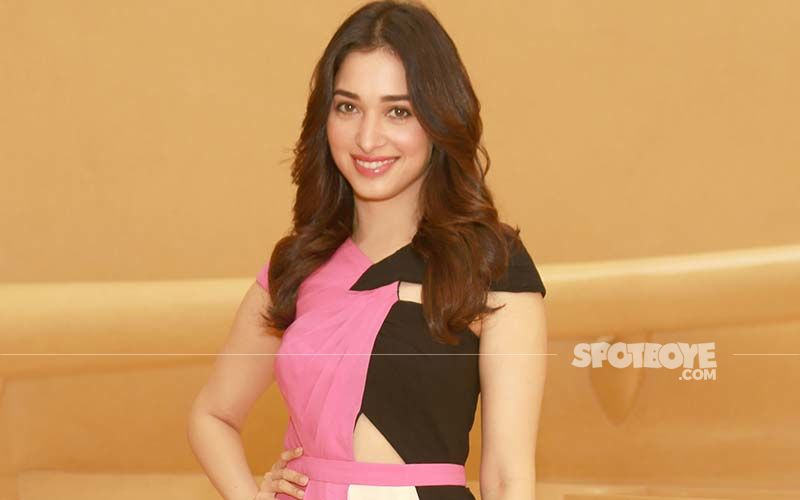 Flower Power! Tamannaah Bhatia Looks Dazzlingly Beautiful In This Off-Shoulder Floral Attire From The NYC Based Fashion Brand Marchesa