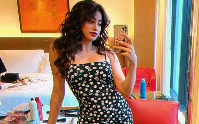 Janhvi Kapoor Shows You How To Nail The Perfect Pose For A Mirror Selfie Clad In A Floral Mini Dress