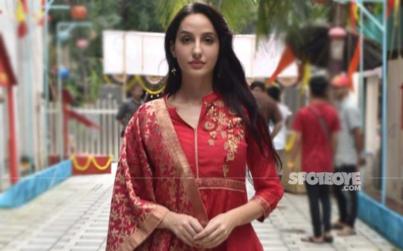 Nora Fatehi Goes Ethnic In This Blush Pink Anarkali And Looks Every Bit The Gorgeous 'Desi Girl'