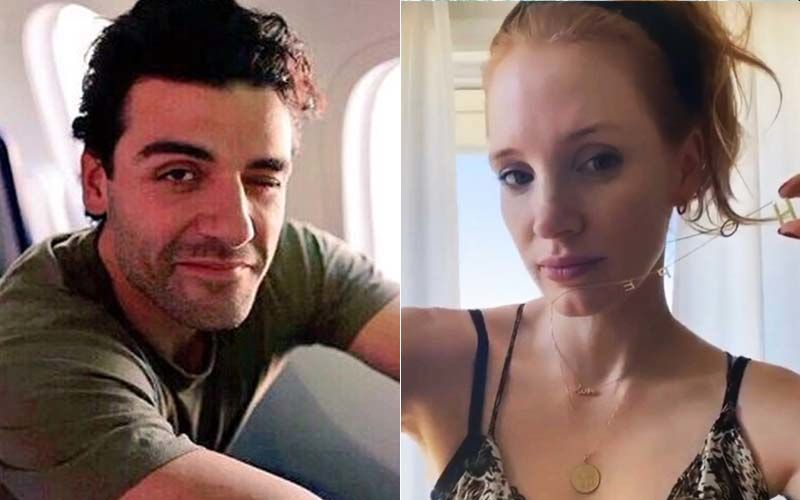 Oscar Isaac Sniffs Jessica Chastain's Armpits on the Red Carpet of Venice Film Festival