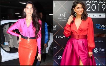 Nora Fatehi Copies Kareena Kapoor Khan's Sexy Pink And Orange Neon Game