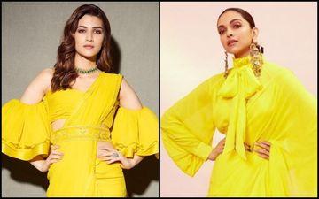 Deepika Padukone Vs Kriti Sanon- Who Looked HOTTER In Yellow Saree?