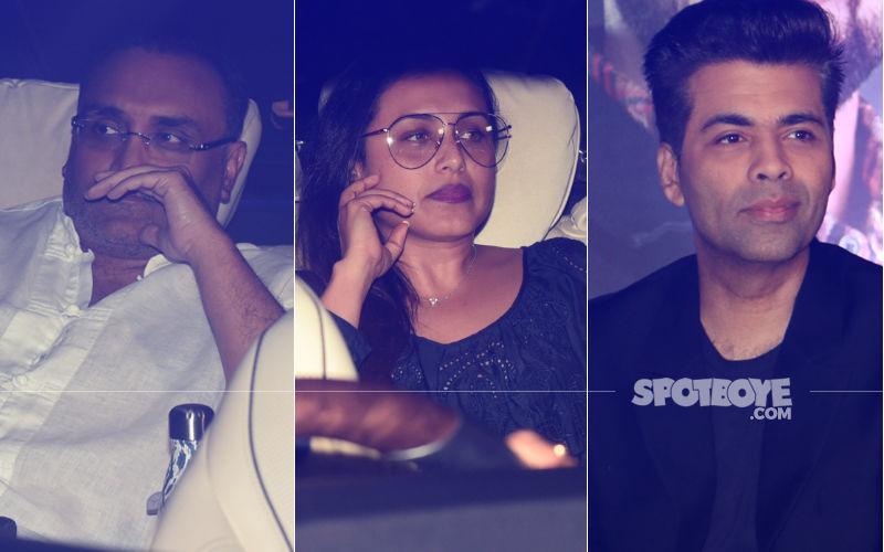 Pics: Rani Mukerji & Aditya Chopra Spotted At Karan Johar's House