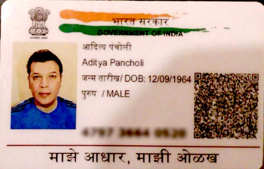 aditya pancholi adhaar card
