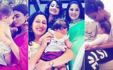 Mouni Roy, Nia Sharma, Adaa Khan, Sudha Chandran's Adorable Moments With Karanvir Bohra & Teejay Sidhu's Twins