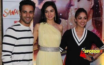 Yami, Pulkit turn up in matching outifts at Sanam Re bash