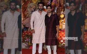 After Alia Bhatt, Ranbir Kapoor Makes A Candid Appearance At Sarbojanin Durga Puja Pandal