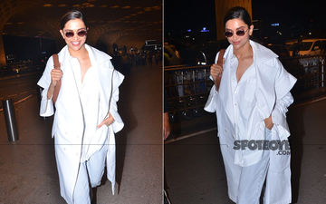 Airport Diaries: Deepika Padukone Heads To London To Join Her Husband Ranveer Singh For '83 Shoot