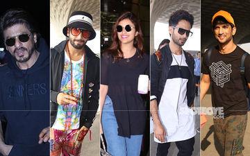 Airport Look: Shah Rukh Khan, Ranveer Singh, Parineeti Chopra, Shahid Kapoor, Sushant Singh Rajput