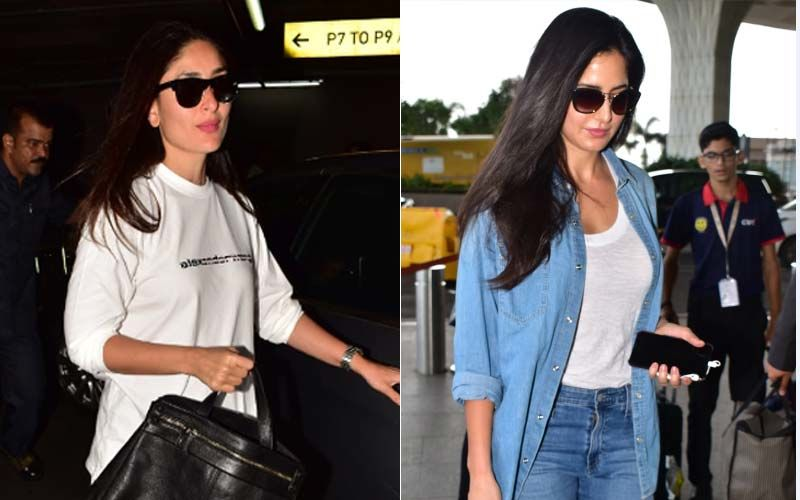 Katrina Kaif And Kareena Kapoor Khan Slay Airport Fashion In Chic Outfits