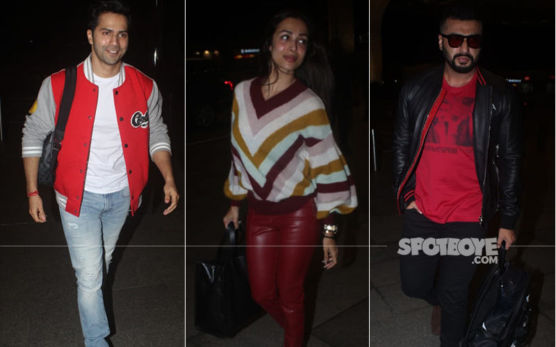 Varun Dhawan's Coolie No. 1 Jersey Is All Swag, Arjun Kapoor Whisks Off Malaika Arora To Somewhere Special, Again! - Airport Diaries