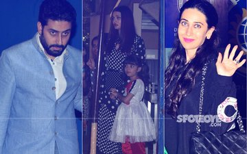 Aishwarya Rai, Abhishek Bachchan, Karisma Kapoor Come TOGETHER To Attend The Annual Day Of Their Kids