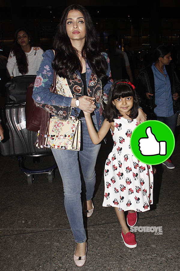 aishwarya rai bachchan and daughter aaradhya snapped at the mumbai airport returning from cannes