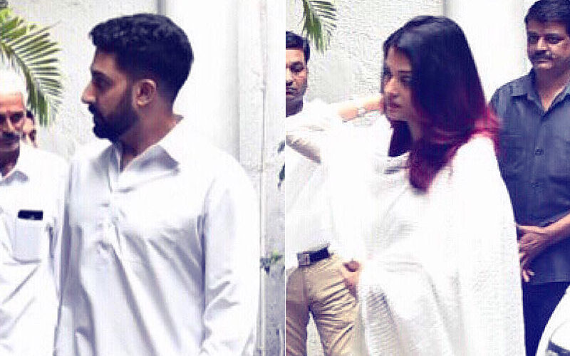 Aishwarya Rai & Abhishek Bachchan Pay Last Respects To Shweta Nanda's Father-In-Law, Rajan Nanda: View Pics