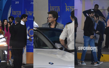 Aishwarya Rai - Abhishek Bachchan, Shah Rukh Khan, Hrithik Roshan Attend The Annual Function Of Their Kids - PICS