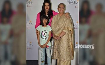 Aishwarya Rai Bachchan Gets Snapped With Mother And Aaradhya Bachchan On The Occasion Of Her Father's Birth Anniversary