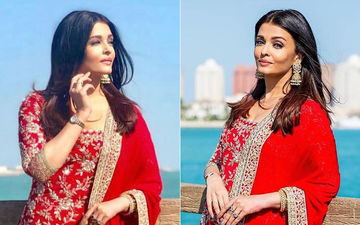 Aishwarya Rai Bachchan Looks Splendid In This Red Manish Malhotra Sharara