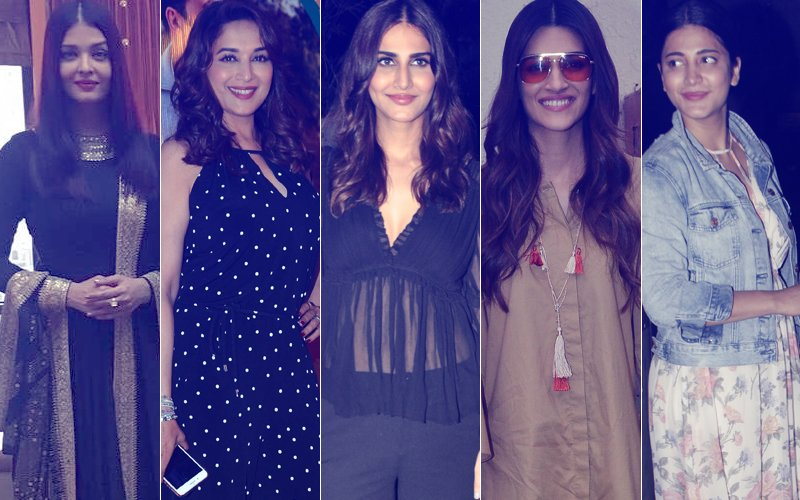 STUNNER OR BUMMER:  Aishwarya Rai Bachchan, Madhuri Dixit, Vaani Kapoor, Kriti Sanon Or Shruti Haasan?