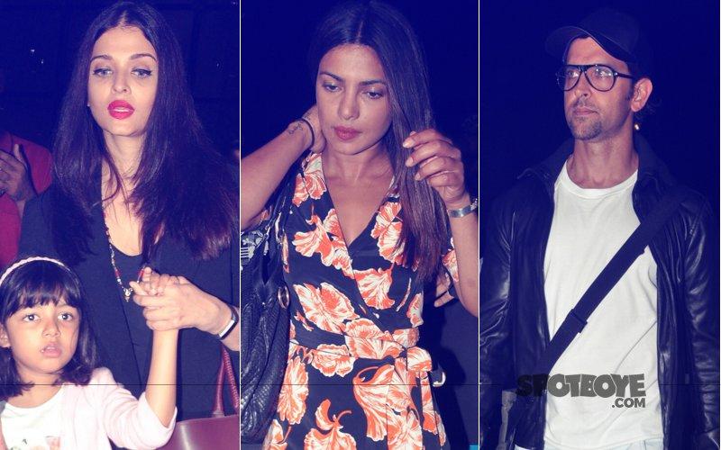 PICS: Aishwarya Rai Bachchan, Priyanka Chopra, Hrithik Roshan Return To The City In Style