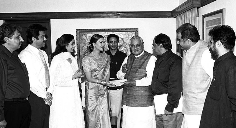 aishwarya rai bachchan sridevi and anil kapoor with atal bihari vajpayee