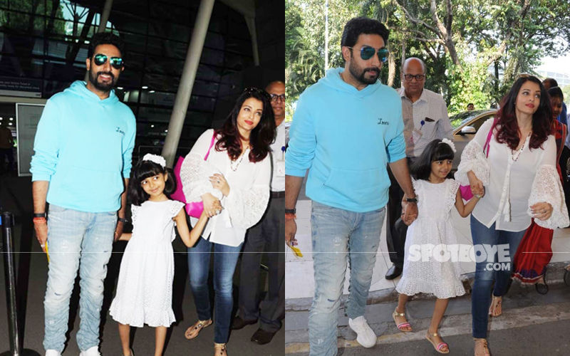 Aishwarya Rai Bachchan Will Celebrate Birthday In Goa; Actress Spotted With Abhishek-Aaradhya  At Airport