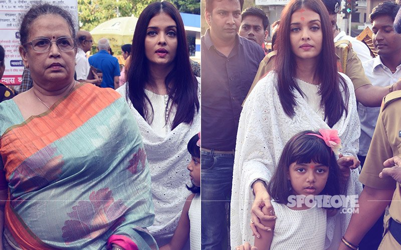 PICS: Aishwarya Rai Bachchan Visits Siddhivinayak Temple On Her 44th Birthday