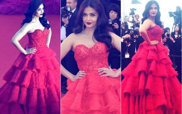 Cannes Film Festival 2017: Aishwarya Rai Bachchan Looks Red Hot In A Ruffled Gown