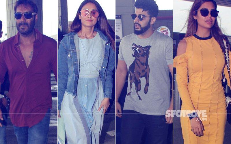 Airport Spotting: Ajay Devgn, Ileana D'Cruz, Arjun Kapoor & Esha Gupta Travel In Style