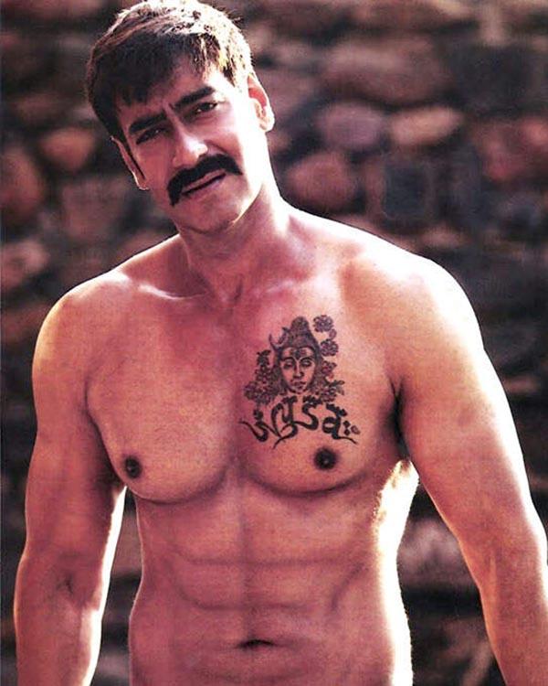 ajay devgn chest tattoo