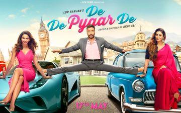 स्टंट दिखाते हुए प्यार मांग रहे हैं अजय देवगन, फिल्म दे दे प्यार दे का फर्स्ट लुक हुआ रिलीज