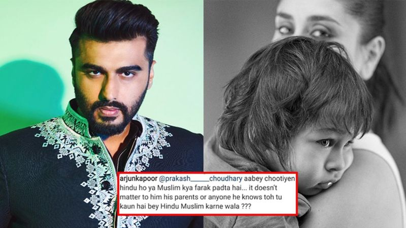 Arjun Kapoor SLAMS Netizen For Spewing Religious Venom On Kareena Kapoor And Taimur's Pic, 'Abe Ch***e Hindu Ho Ya Muslim Kya Farak Padta Hai?'