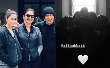 Amid The Negativity Alia Bhatt Showers Love On Daddy Mahesh Bhatt Along With Sister Pooja Bhatt; The Snap Is Too Cute For Words