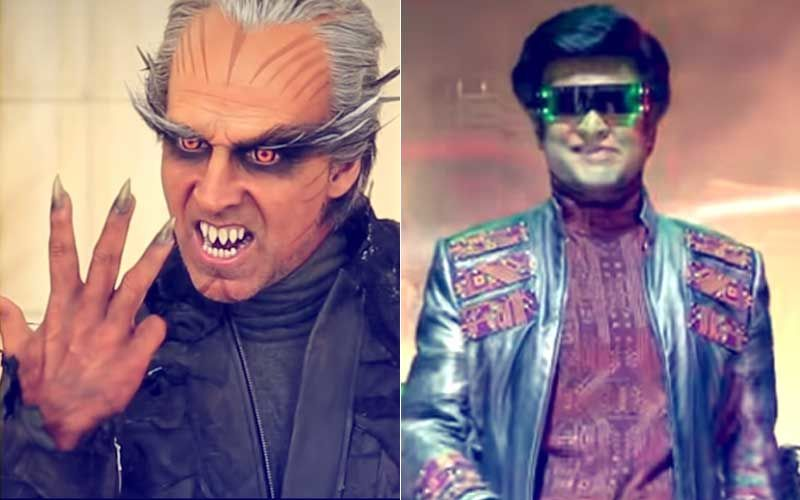 2.0 Behind-The-Scenes: Witness Akshay Kumar And Rajinikanth's Dramatic Face Off As Chitti & Crowman
