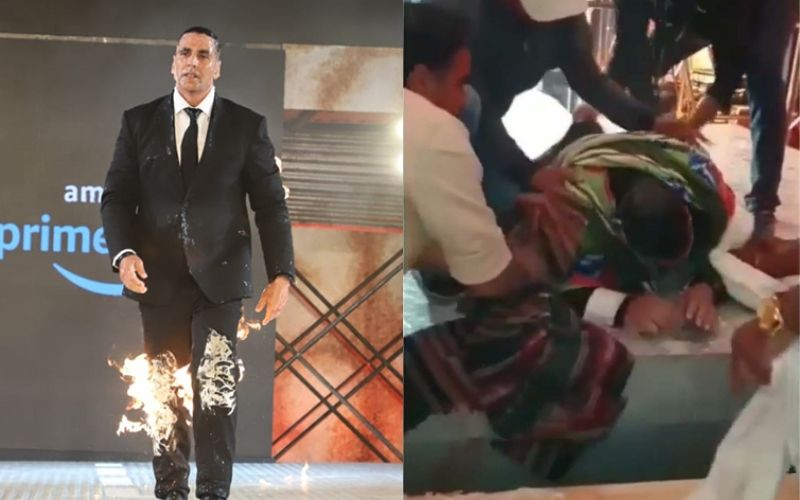 बैक स्टेज इस तरह आग लगाकर स्टेज पर पहुंचे थे अक्षय कुमार, वीडियो हुआ वायरल