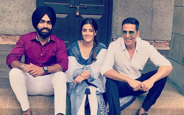 Akshay Kumar, Ammy Virk And Nupur Sanon Shoot For A Music Video