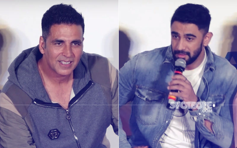 Akshay Kumar Is Engrossed In Conversation With 'Shirtless' Amit Sadh – View Pic