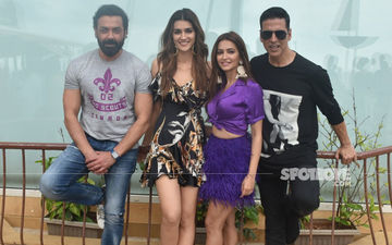 Akshay Kumar, Bobby Deol, Kriti Sanon And Kriti Kharbanda Clicked Promoting Housefull 4