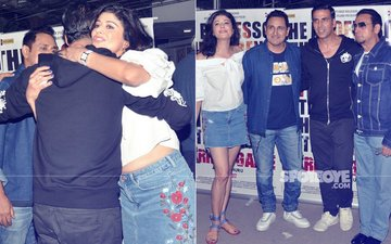 Akshay Kumar Hugs Ex-Girlfriend Pooja Batra At A Film Screening