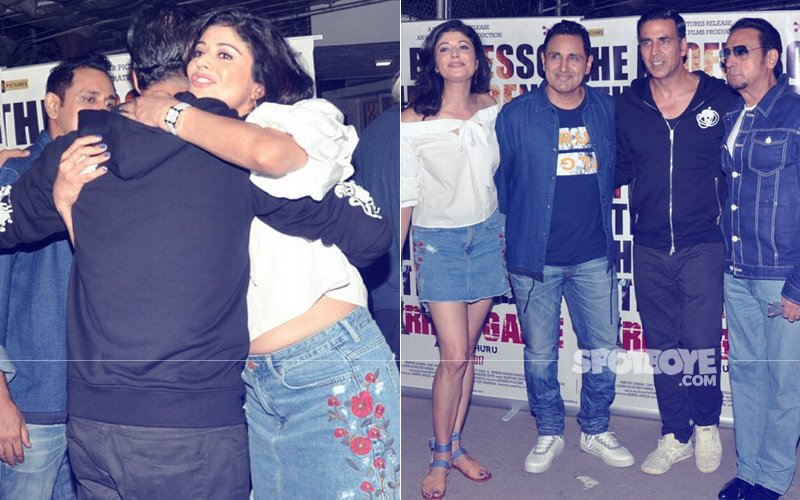 Akshay Kumar Hugs Ex-Girlfriend Pooja Batra At A Film Screening