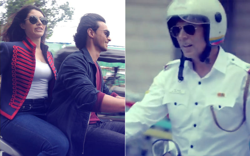 Aayush Sharma & Warina Hussain Fined For Riding Without Helmet; Akshay Kumar Says 'Road Kisi Ke Baap Ka Nahi Hai'