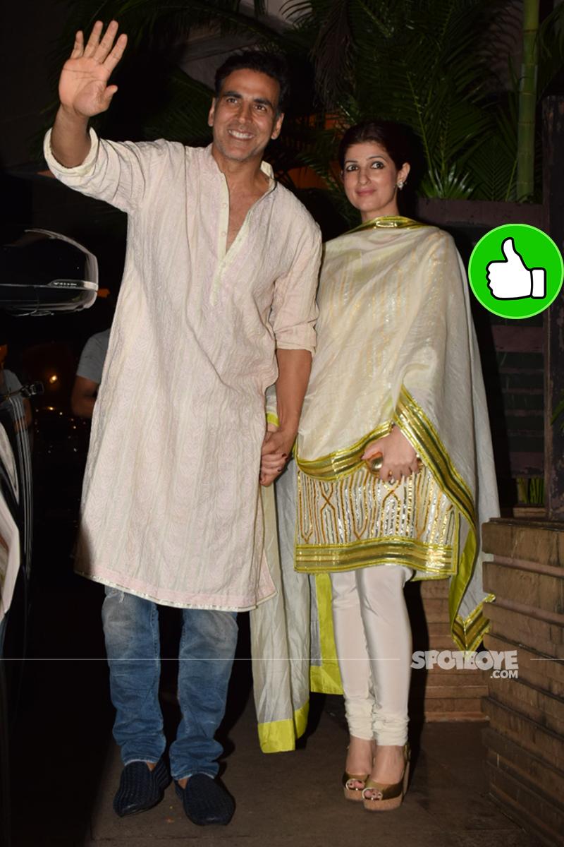 akshay kumar twinkle khanna at a diwali party