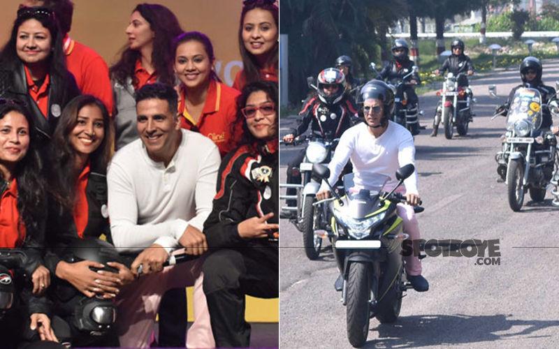 On Women's Day 2019, Akshay Kumar Rides Bike With Women Bikers To Raise Awareness Around Periods