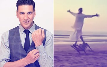 VIDEO ALERT! Dhoti Clad Akshay Kumar Does Somersaults On The Beach