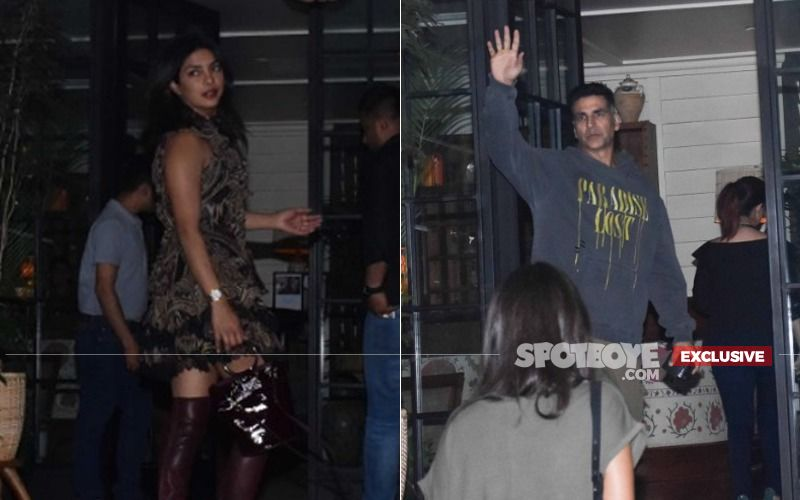 Priyanka Chopra And Akshay Kumar Find Themselves Dining In The Same Restaurant, At The Same Time!