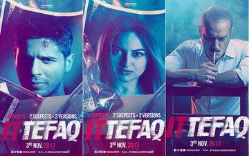 Sidharth Malhotra, Sonakshi Sinha & Akshaye Khanna Up The Thrill Quotient In Ittefaq's Latest Posters
