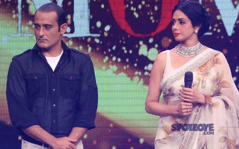 Sridevi & Akshaye Khanna Promote Mom On-The-Sets Of Sa Re Ga Ma Pa Lil Champs