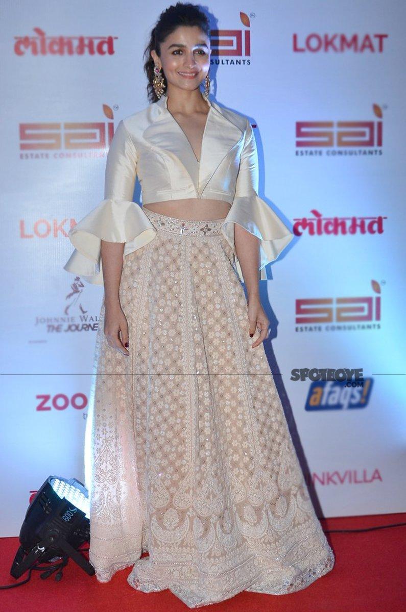 alia bhatt at lokmat awards