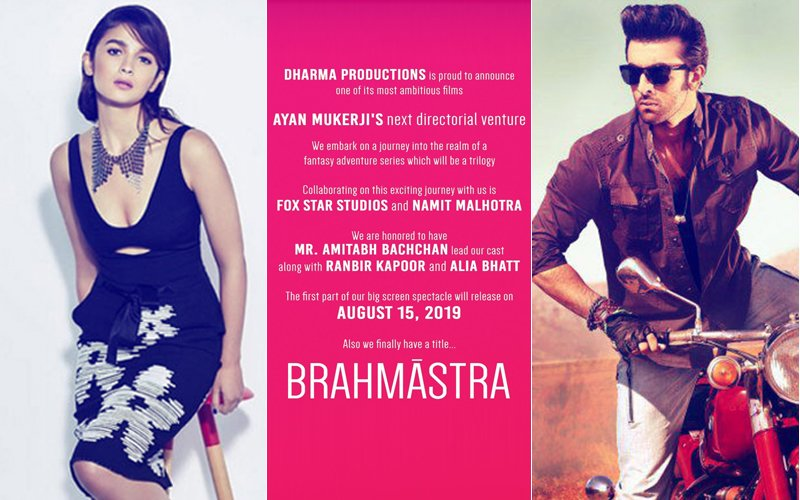 It's Official: Ranbir Kapoor - Alia Bhatt's Brahmastra Will Be A Trilogy